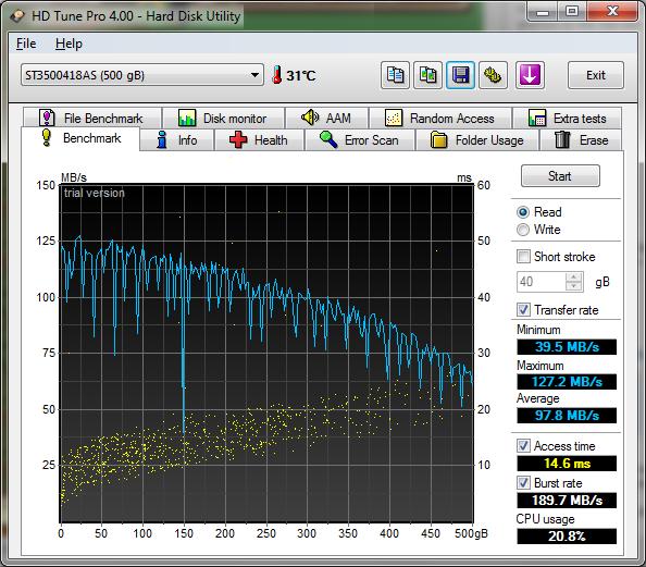 3621256 - [Review] [Festplatte] - 500GB Seagate ST3500418AS 7200 16MB 7200 Umin SATA