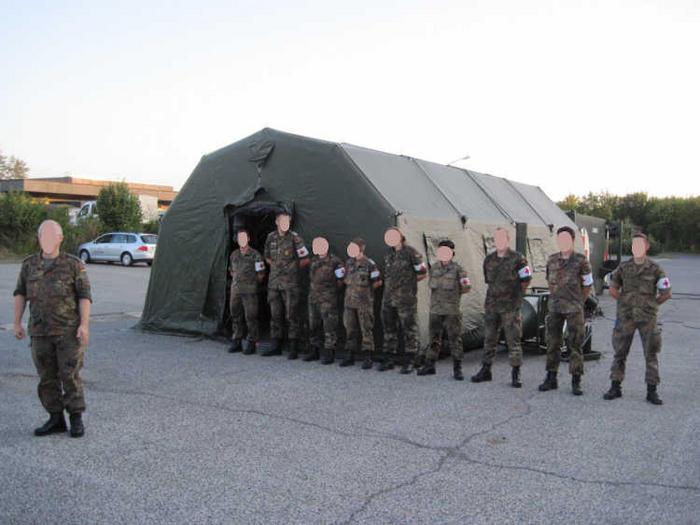 inside treatment tent & German EMS - MREInfo.com